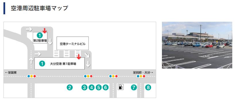 大分空港駐車場MAP