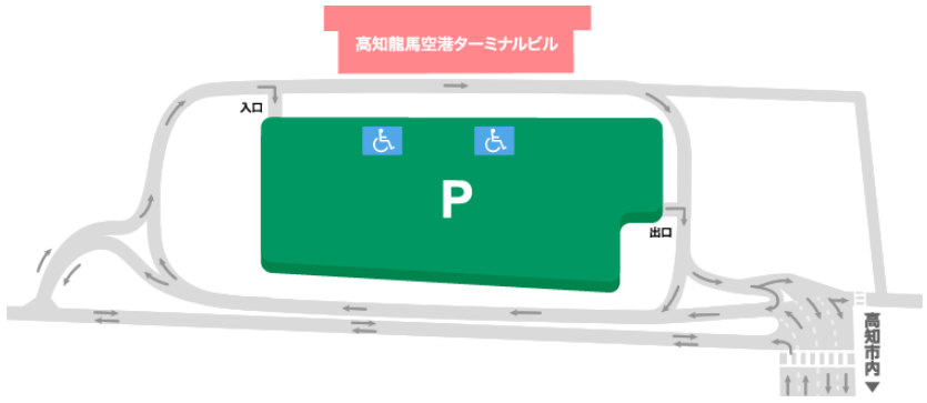 高知空港駐車場MAP