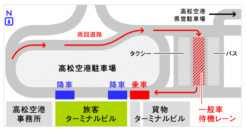 高松空港駐車場MAP